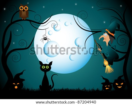 Vector halloween picture