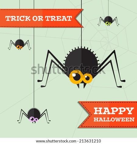Vector halloween spider  background. Eps10 - stock vector
