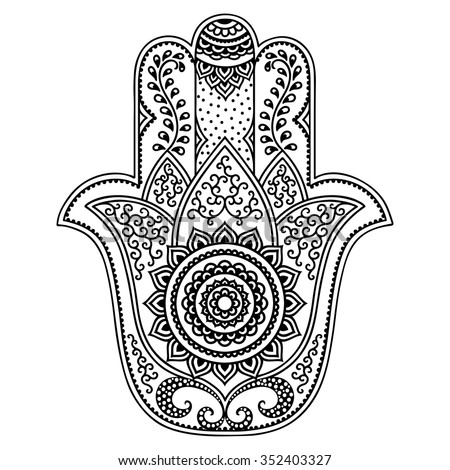 hamsa coloring pages - hamsa stock images royalty free images vectors