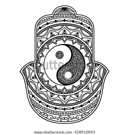 Decorative Ying And Yang Symbol