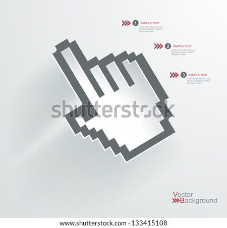 Vector hand cursor - stock vector