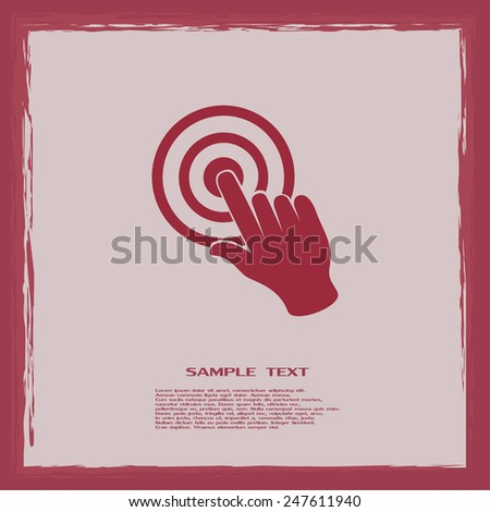 Vector hand cursor vector icon - stock vector