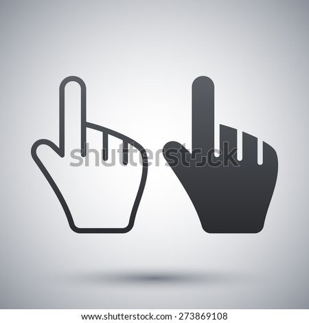 Vector hand cursors icon