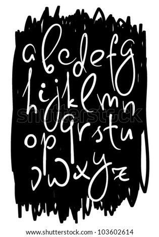 Vector hand drawing alphabet - stock vector