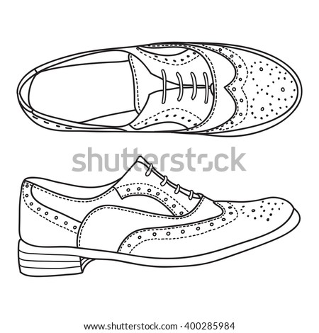 Fantasy High Boots Men Shoes Illustration