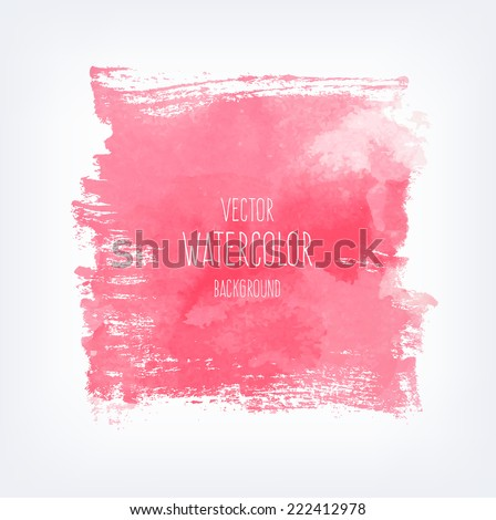 Vector hand drawn abstract watercolor background - stock vector