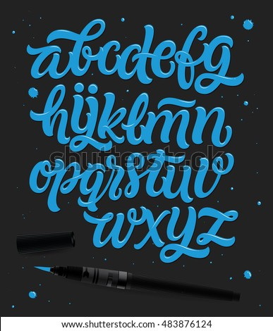 Custom of writing letters vector