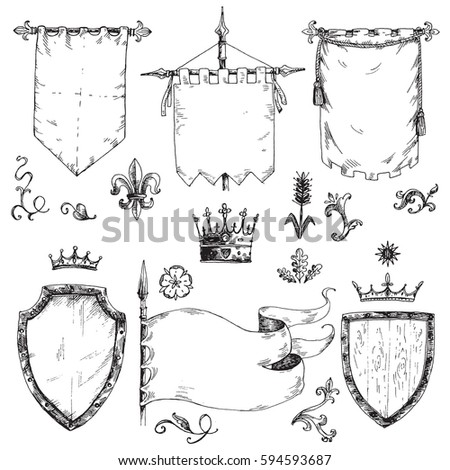 medieval symbols stock images royaltyfree images