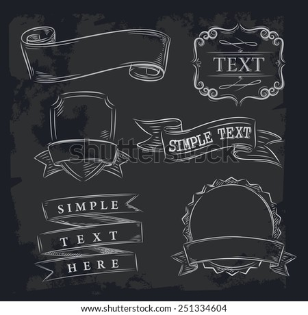 vector hand drawn elements cuts chart on black - stock vector