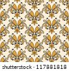 vector hand drawn   floral seamless pattern, seamless pattern in swatch menu,  fully editable eps 8 file - stock vector