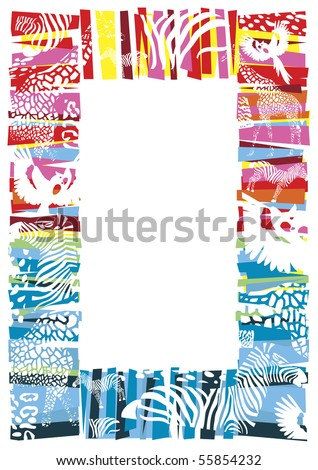 Vector hand-drawn frame. - stock vector