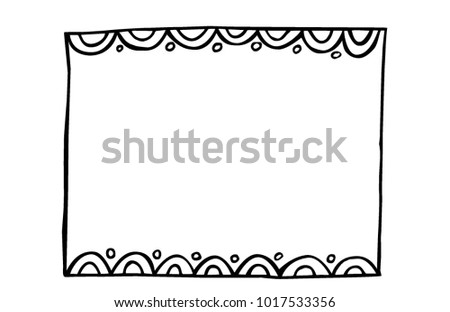 Vector Handdrawn Frame Scalloped Edge Fun Stock Photo (Photo, Vector ...
