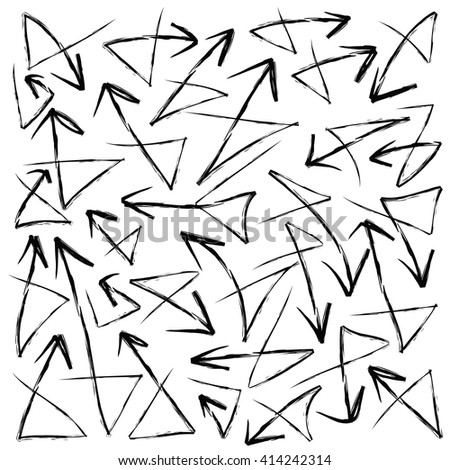 Chaotic Random Scattered Shapes Abstract Geometric Stock Vector