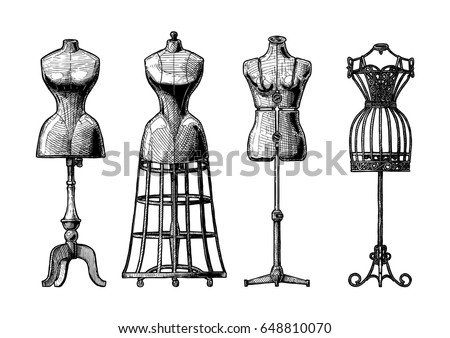 Girls fashion dress form activity vector
