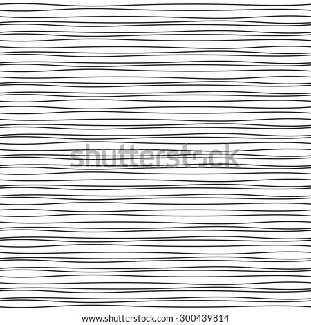 Vector hand drawn inky black and white lines abstract background. Seamless abstract lined pattern. - stock vector