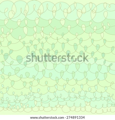 Vector hand drawn knit shape design background. Seamless pattern. - stock vector