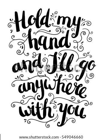 Vector Hand Drawn Love Quote Brushpen 库存矢量图 549046660 ...