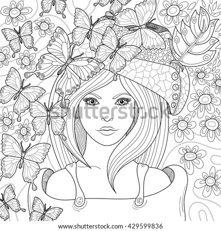Vector Hand Drawn Pattern Anti Stress Stock Vector (Royalty Free ...