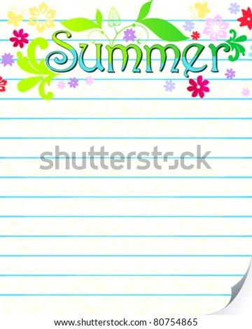 Vector hand drawn style summer card illustration - stock vector