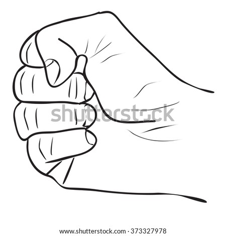 Vector Hand Icon isolated on a white background
