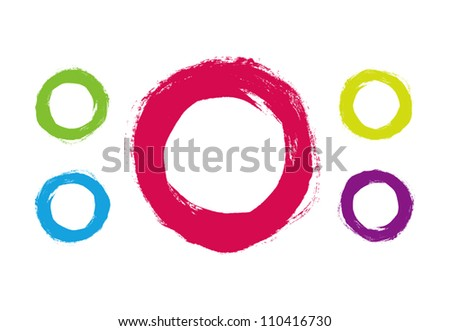 Vector hand-painted circles