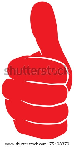 Vector hand showing thumbs up - stock vector