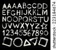 Vector hand-written brush strokes alphabet - stock vector