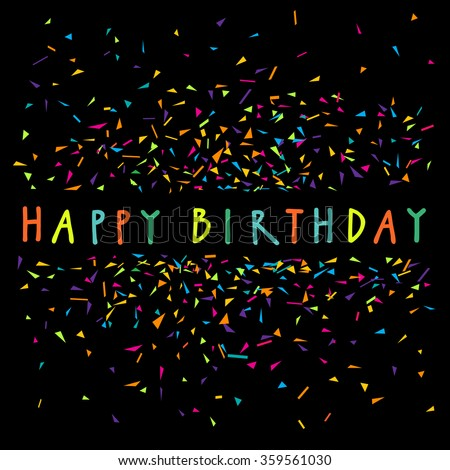 Vector Hand Written Happy Birthday Greeting Stock Vector 359561030