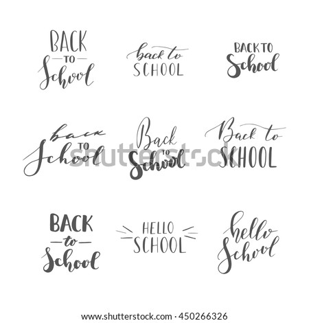 Vector Hand Written Lettering Quotes Modern Stock Vector