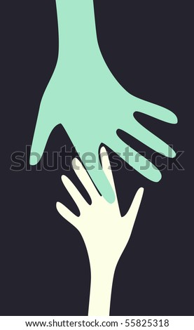 vector hands. - stock vector