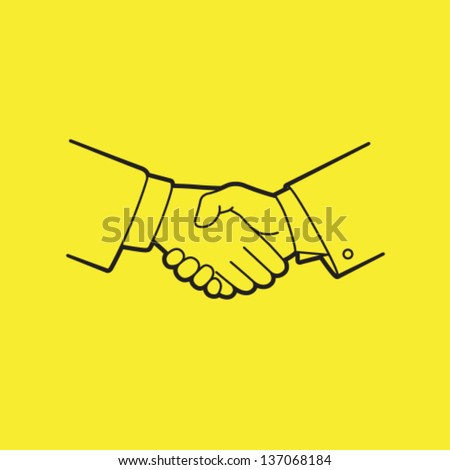 Vector Handshake Icon Symbol - stock vector