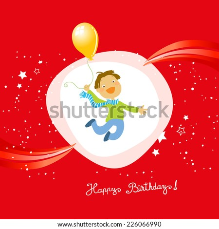 Vector happy birthday fun greeting card - stock vector