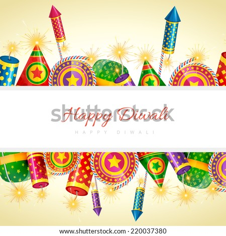 Vector happy diwali background with space for your text - stock vector