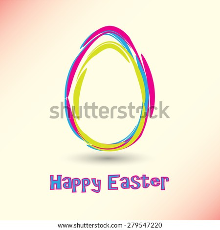 Vector Happy Easter Card