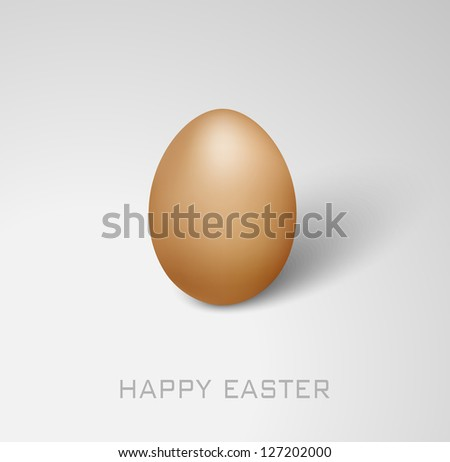 Vector Happy Easter card with egg on the grey background - stock vector