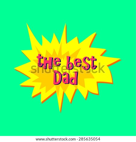 Vector Happy Father's Day sticker - stock vector