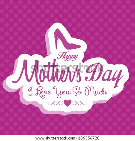 Vector Happy Mothers's Day Template Card Background
