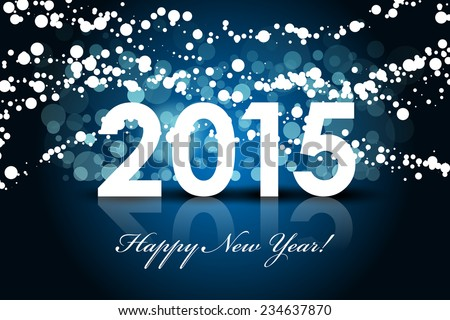 Vector 2015 - Happy New year background - stock vector