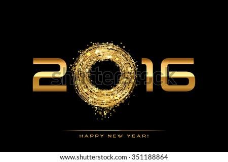 Vector - 2016 Happy New Year background - stock vector