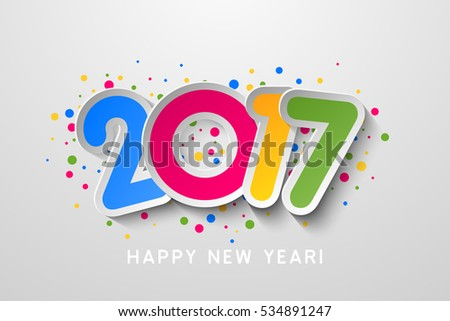 Vector 2017 Happy New Year colorful background