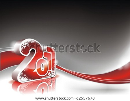 Vector Happy New Year 2011 design - stock vector
