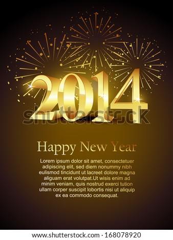 vector happy new year holiday celebration - stock vector