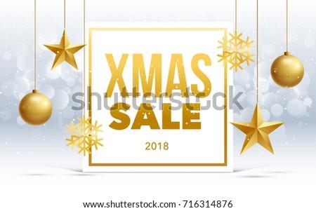 Vector Happy New Year 2018 Sale Stock Vector 716314876 - Shutterstock