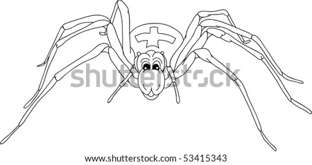 vector - happy spider isolated on background