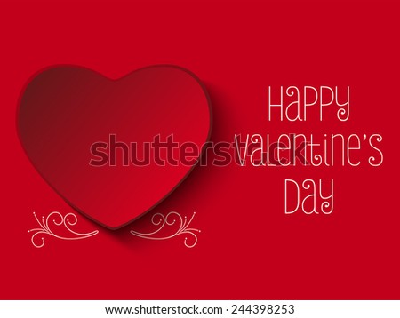 Vector - Happy Valentine Day Red Heart