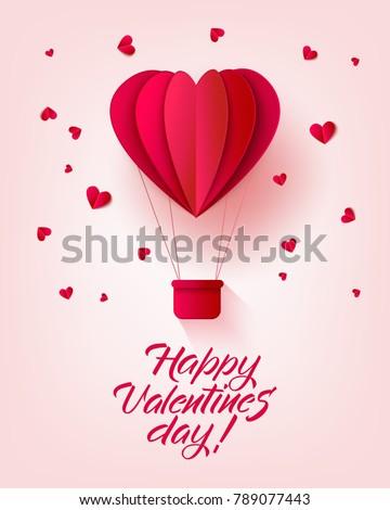 Vector Happy Valentines Day Invitation Card Stock Vector 789077443 ...