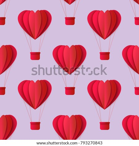 Vector Happy Valentines Day Origami Paper Stock Vector 793270843