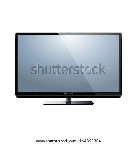 Vector HD TV - stock vector