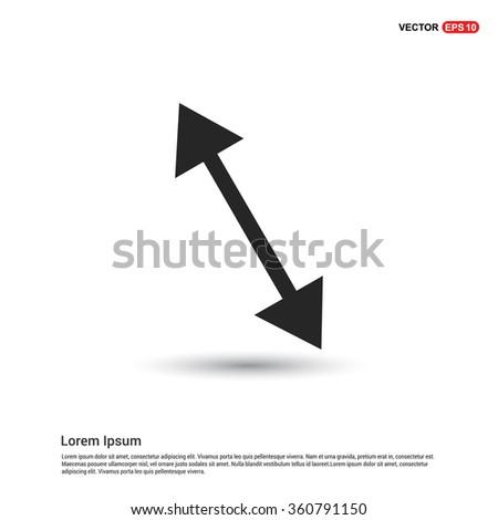 Vector 2 head arrow icon - stock vector