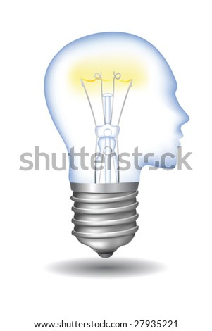 vector head lamp bulb.To see similar, please VISIT MY GALLERY.